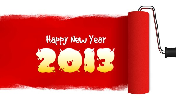 Happy New Year 2013 Greetings to all. 1366 x 768.Animated Happy New Year Clipart Free