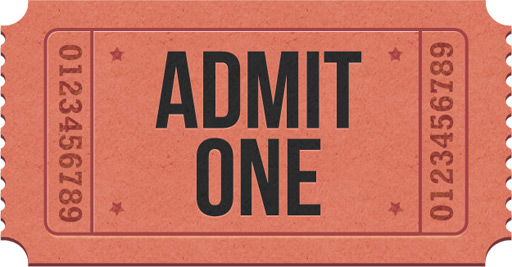 Admit-one ticket icons (PSD) - GraphicsFuel - admit one ticket template