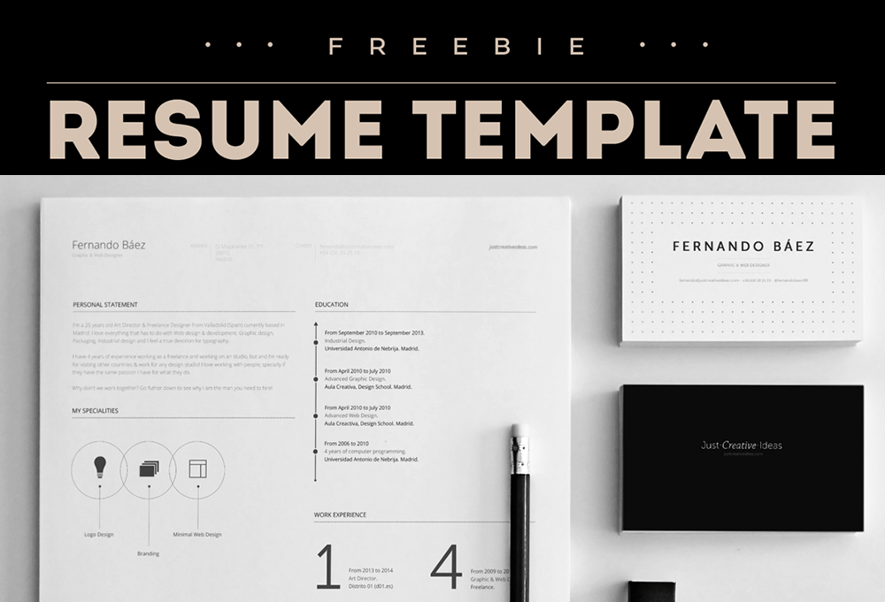 Free Resume Template Illustrator | Professional Resume Cover ...