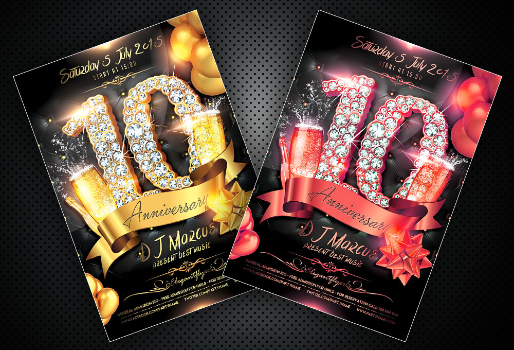 Free Anniversary Flyer PSD Template And Facebook Cover - free anniversary images