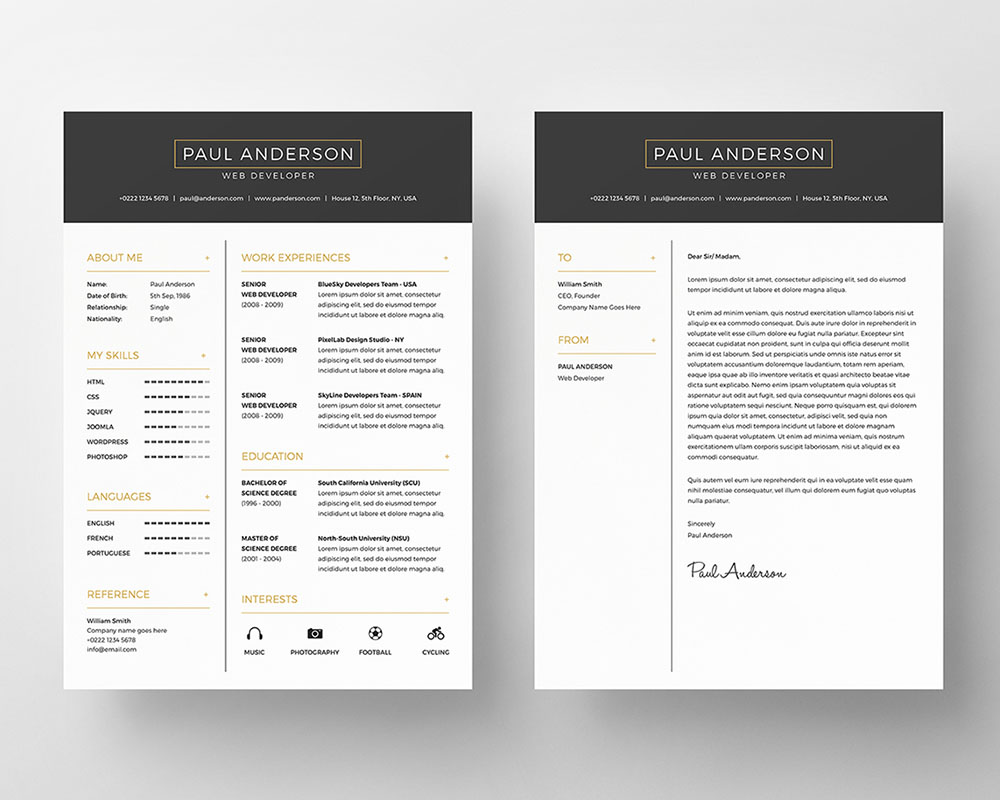 resume builder free word