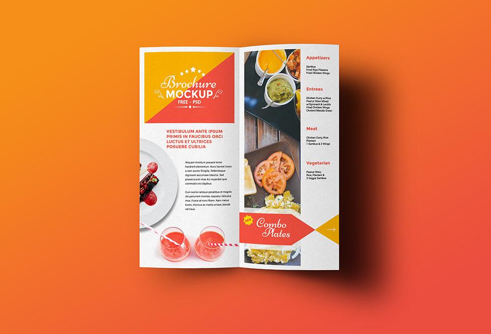 Free Bi-fold Brochure Mockup - GraphicsFuel