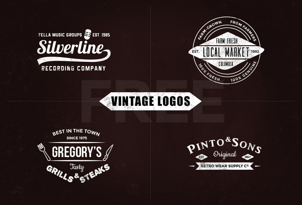 Free Vintage Logo Templates - Vol1 - GraphicsFuel - text logo template