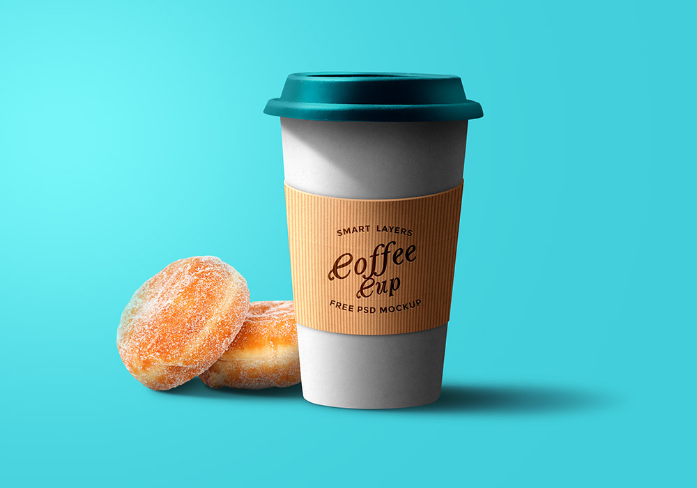 Paper Coffee Cup PSD Template - GraphicsFuel