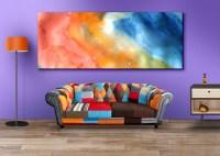 Living Room Wall Art Mockup PSDs - GraphicsFuel