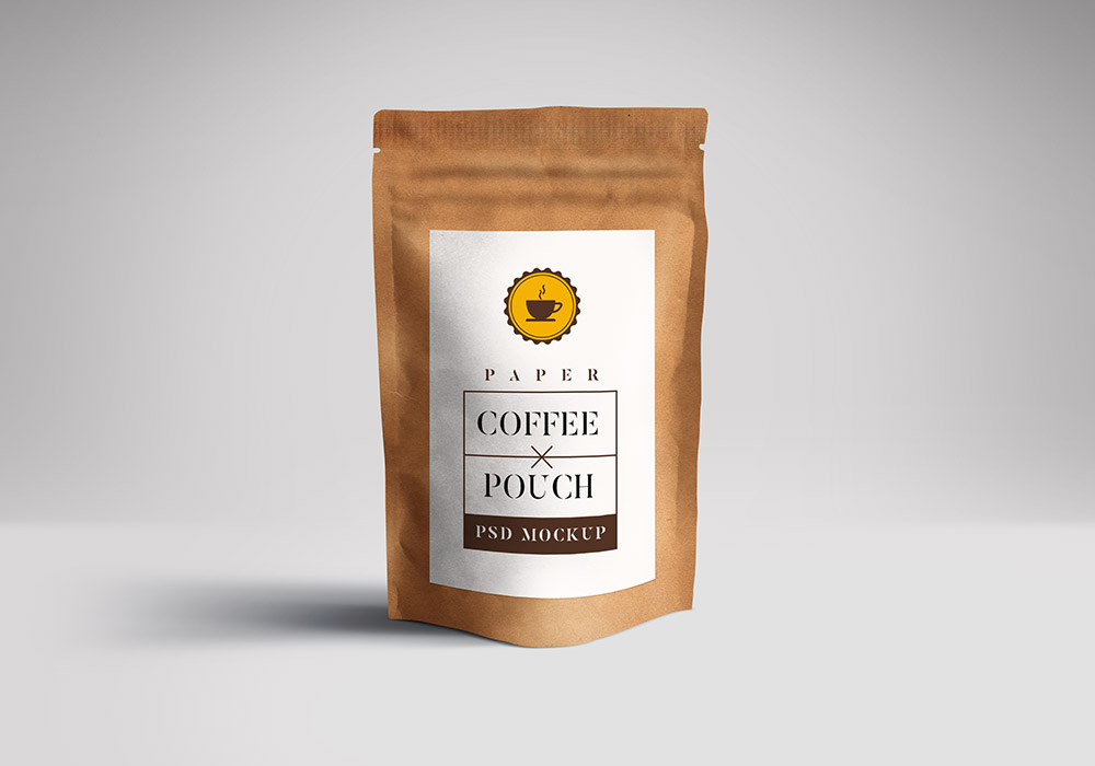 Paper Pouch Packaging Mockup Psd Graphicsfuel