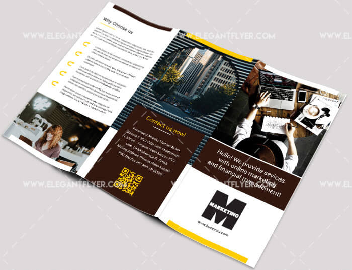 40 Free Professional Tri-fold Brochures for Business - GraphicsFuel - tri fold business brochure