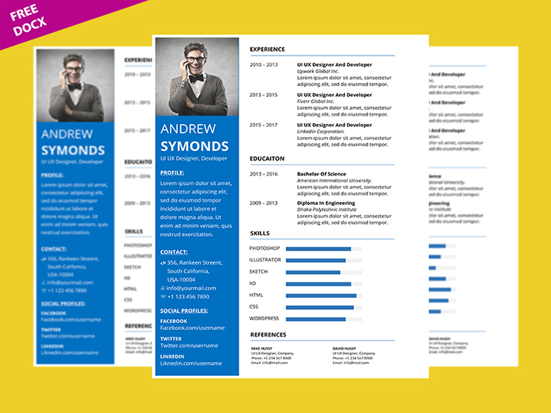 How To Create Clean Professional Resume Template in Microsoft Word