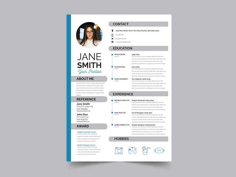 20+ Best Resume Template PSD Free Download - GraphicSlot