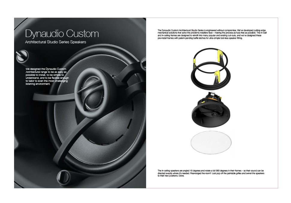 Dynaudio Custom Architectural Studio Series Speakers Brochure - Graphis - studio brochure