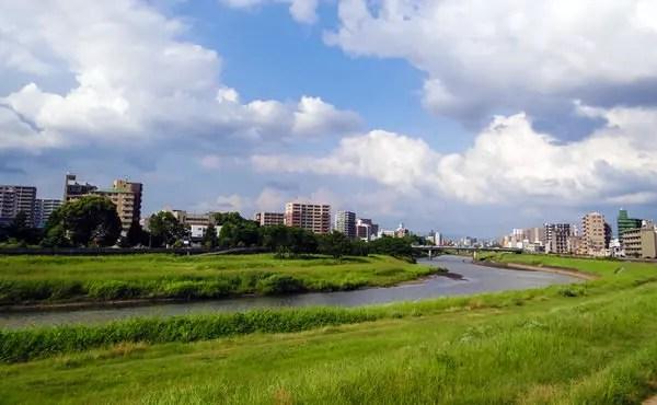 熊本 白川沿い