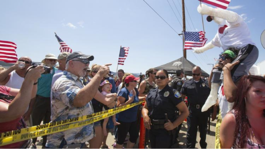 Protesters in Murrieta