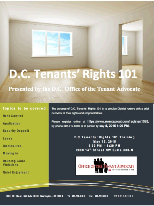 DC Tenants' Rights 101