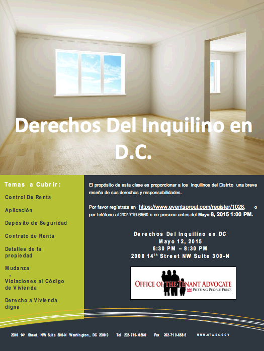 Tenants' Rights 101 in Spanish
