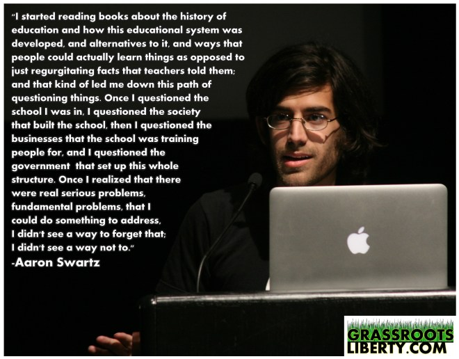aaron swartz, freedom, education, school, learning