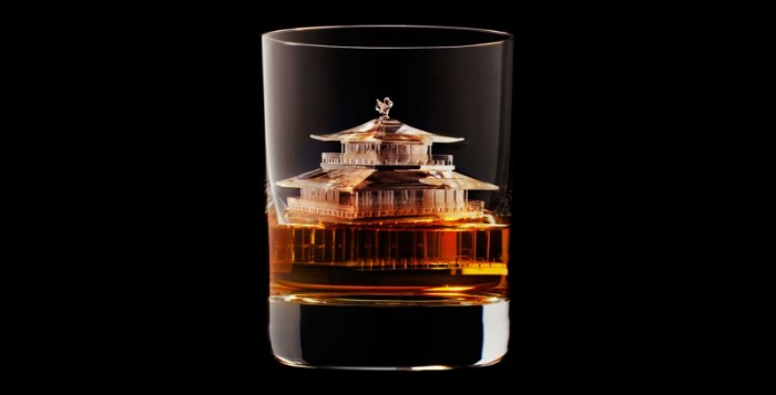 Ice cube sculptures created by TBWA\Hakuhodo for Suntory Whisky