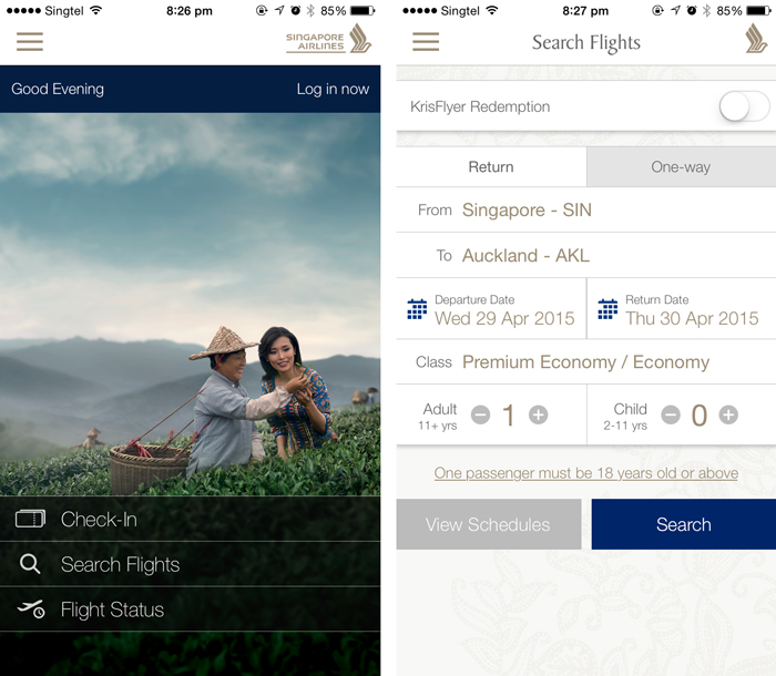 Singapore Airlines refreshes mobile app