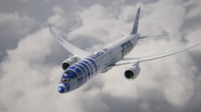 This R2-D2 ANA jet is a Boeing 787-9 Dreamliner (Image: ANA)