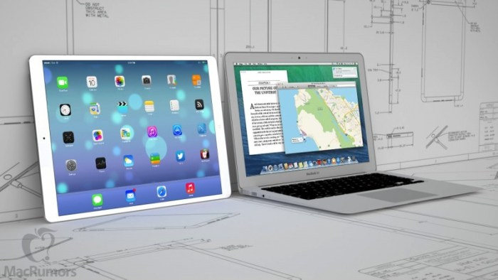 "Apple's rumoured iPad Pro will have a screen larger than that of a 13"" MacBook (photo: MacRumors)"