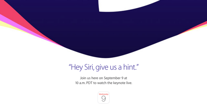 Apple's 9 September 2015 event