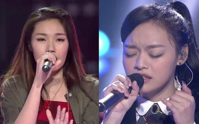 Zhao Da Ge and Huang Xiaoyun in The Voice of China 4 episode 11