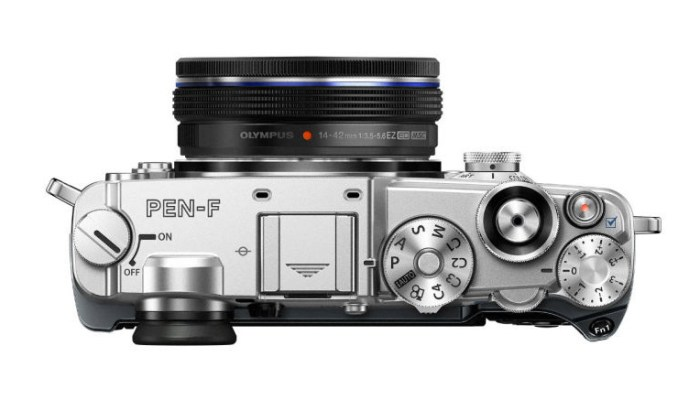 Top view of the Olympus Pen-F