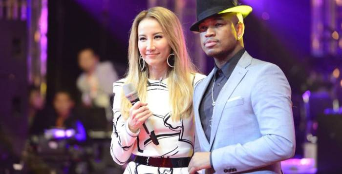 Coco Lee and Ne-Yo at I Am A Singer 4 Grand Finals