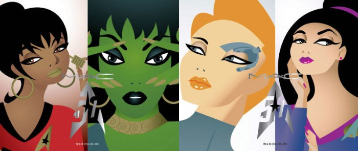 star trek-themed makeup by MAC - illustrations