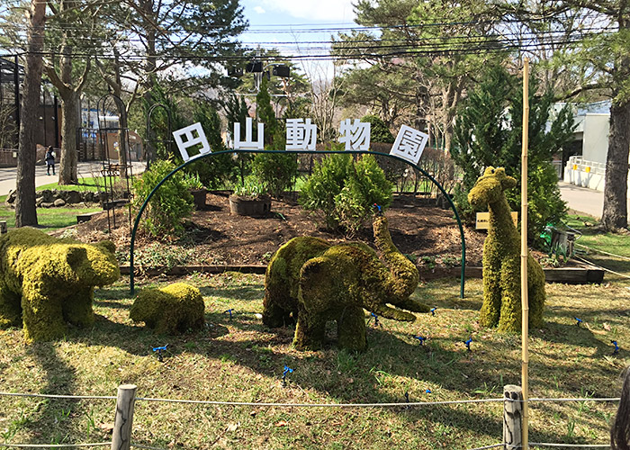 At the entrance of Maruyama Zoo