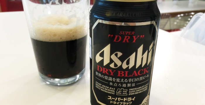 Asahi Super Dry Black Lager in new 350ml can