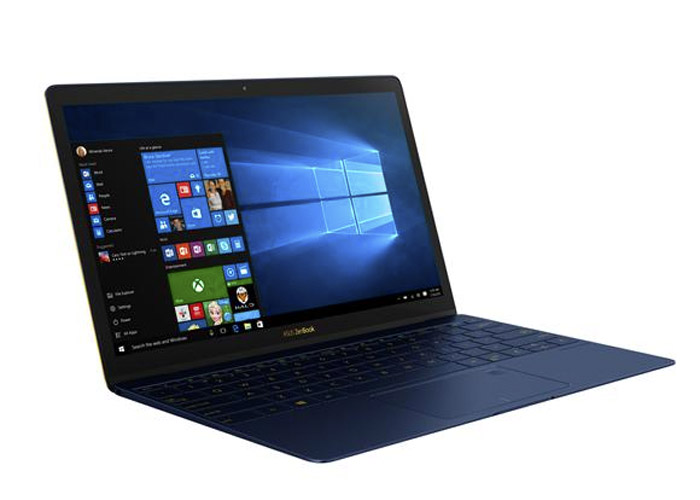 Zenbook 3 is only 11.9mm thick and weighs 910g.