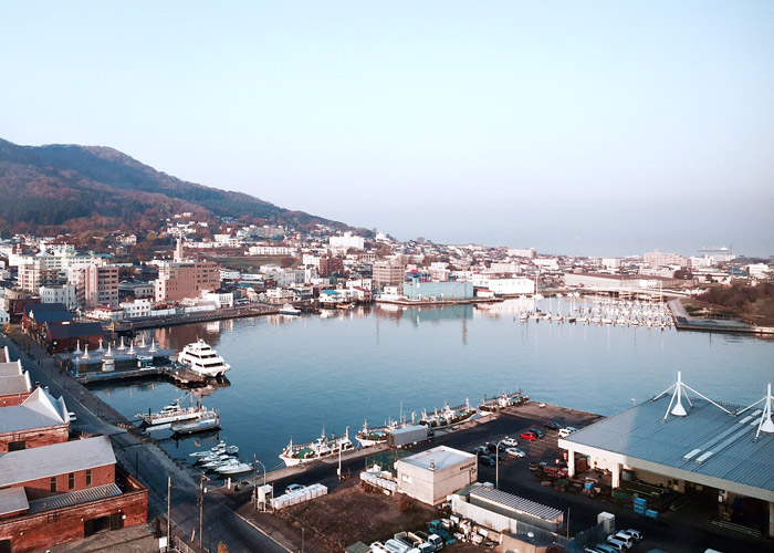 View of the Hakodate bay area