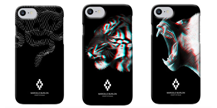 Marcelo Burlon iPhone 7 Cases comes in the Marcos, Roberto, Rodrigo, Sabino, Sefafin and Tajo designs and retails at $79.