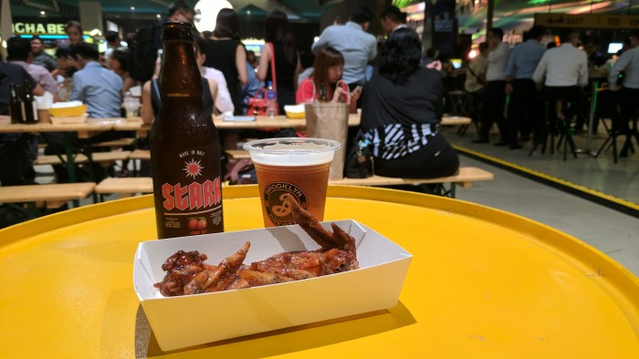 Beer and chicken wings -- best combo in the world