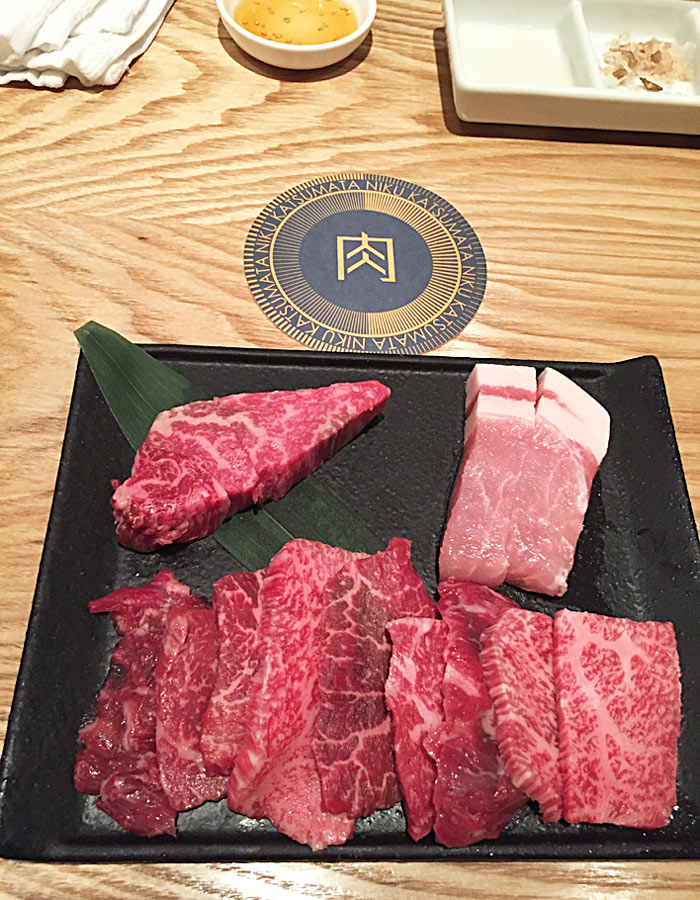Wagyu selection from the Ebisu course menu