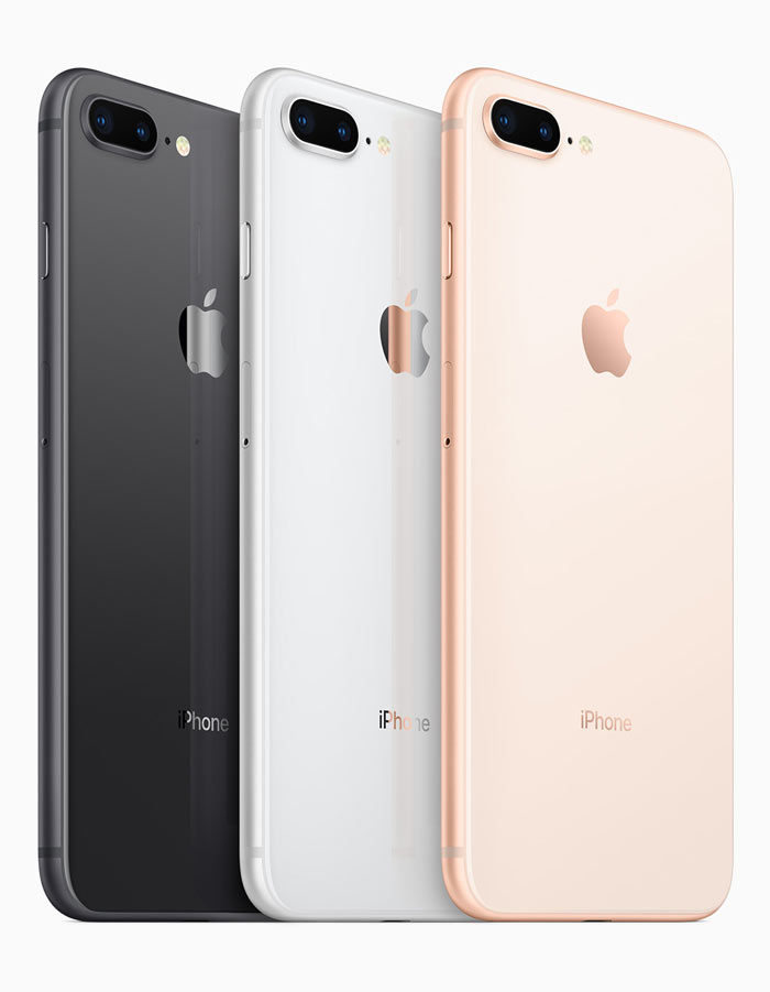 iPhone 8 and 8 Plus are available in Silver, Gold and Space Grey