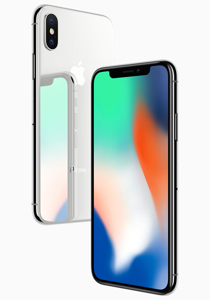 iPhone X comes in 2 colours, black and silver