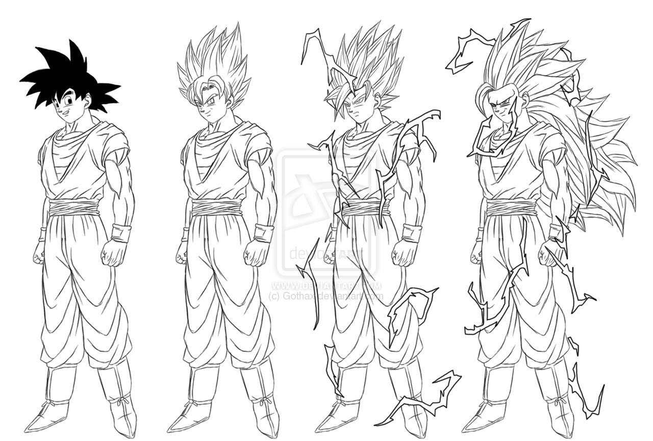 Goku Super Saiyan 4 Coloring Pages - Eskayalitim