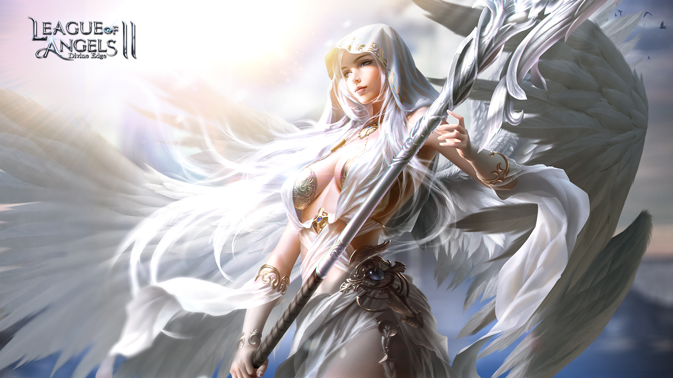 Beautiful Girl Hd Wallpaper For Pc League Of Angels Wallpapers Angel Warrior Fantasy Wallpaper