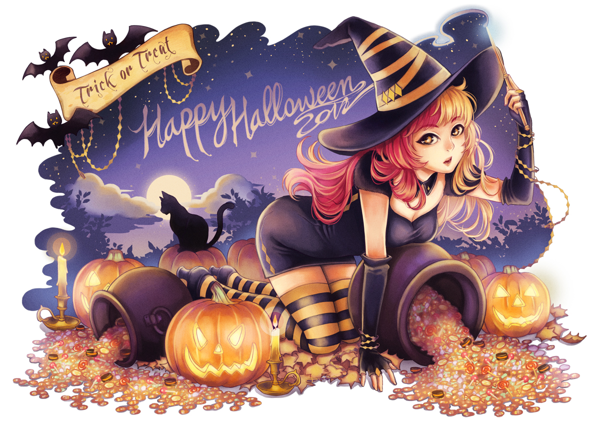 Wallpaper Happy Girl Im 225 Genes Anime Halloween Im 225 Genes Manga Halloween