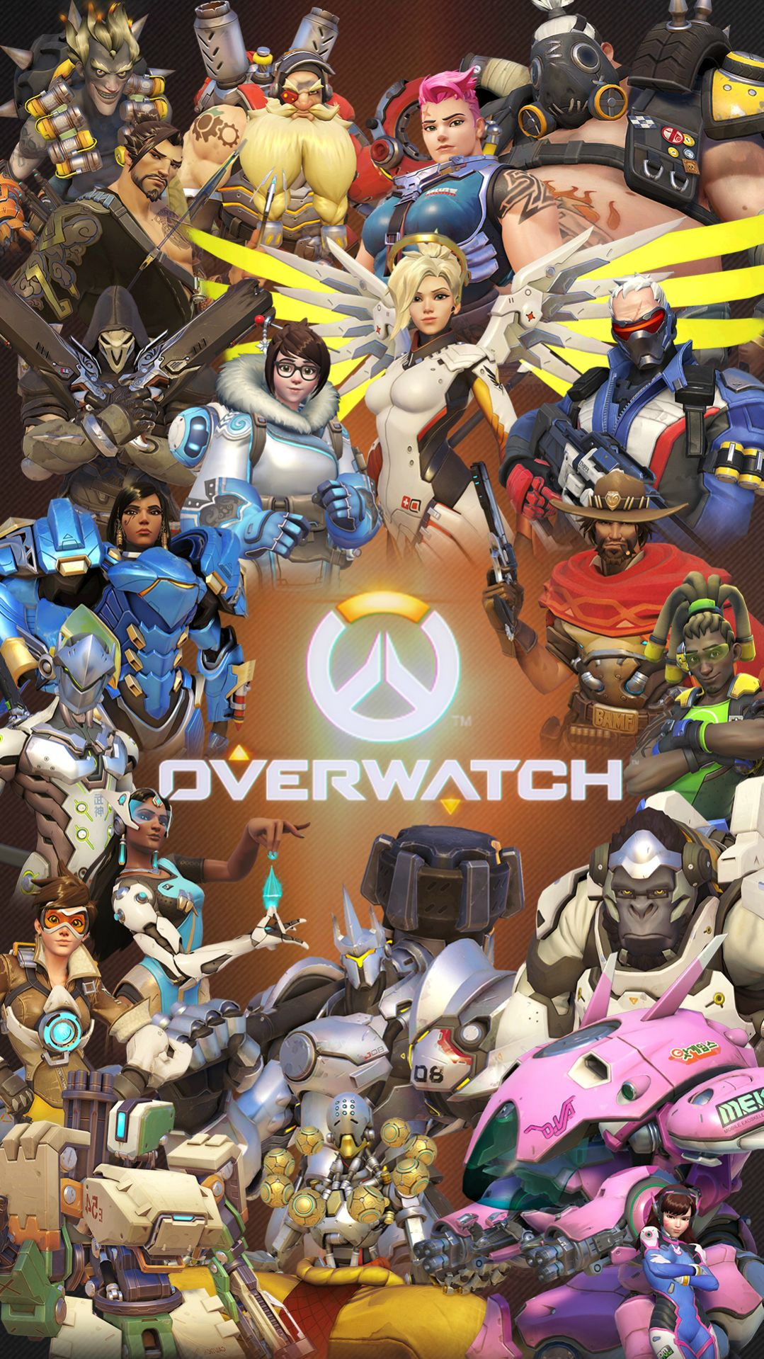 Overwatch Cute Sprays Wallpaper Fondos De Overwatch Para Android E Iphone Wallpapers
