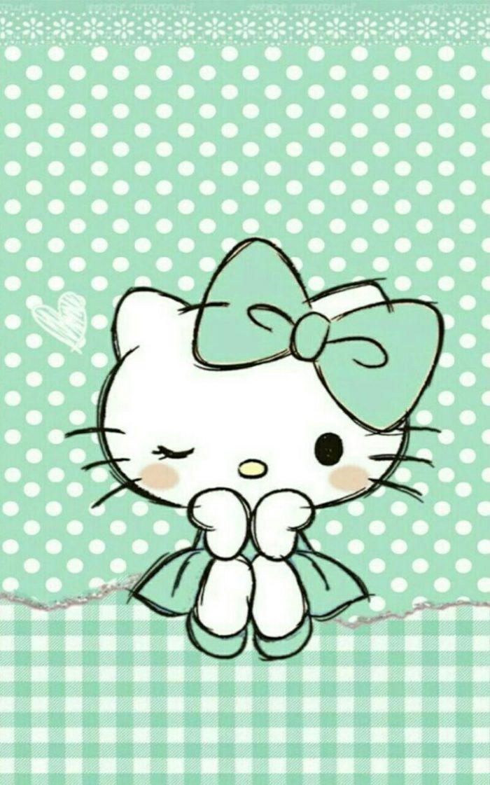 Cute Aqua Green Wallpaper Fondos De Pantalla De Hello Kitty Para Celular Wallpapers