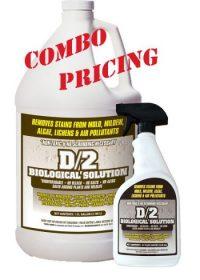 D2 Biological Solution 1 Gallon Bottle with 1-32 oz Quarts D2 Biological Solution Combo with Combo Pricing