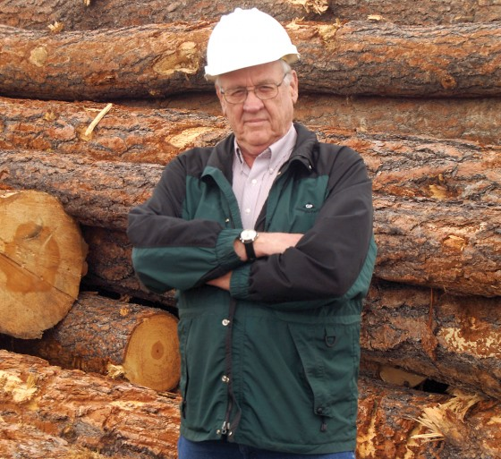 Bob Williams manages the Emerald Forest Products mill in Emmett. (Photo by Glenn Hadfield)