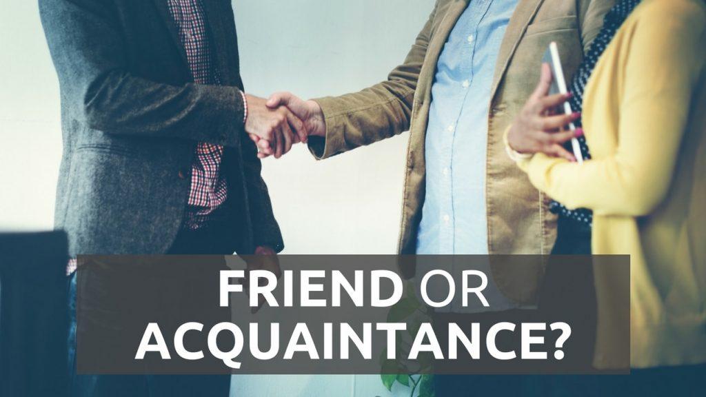 personal acquaintance
