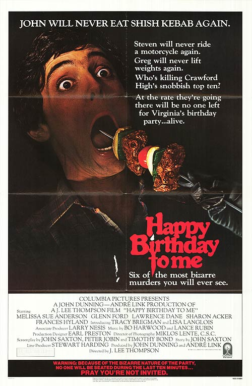 Happy Birthday to Me (1981) movie poster