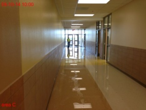 Denison High School Flood