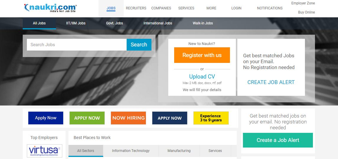 Top 15 Job Sites in India - List of Best Job Search Engines for