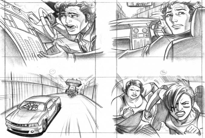 Film Storyboard Draw Film Storyboard / Shooting Board Storyboard