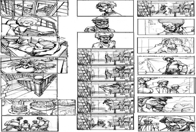 I will transform script in a storyboard for comic or manga for $10